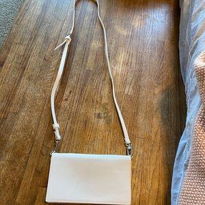 Handbags - White clutch/crossbody